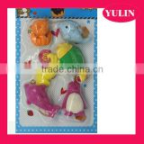 ERP43 6pcs Marine animals children eraser set