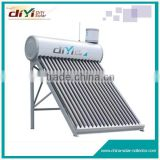 Galvanized Steel material air heat pump hot compact low pressure solar water heater