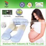 Fashion Design U Shape Back Belly Support Body Latex Pillows for Pregnant Women