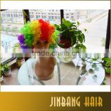 New Premium Best Selling Products Colorful Christmas Cosplay Hairs Clown Funny synthetic Wig For Football Fan