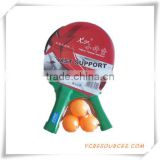 cheap hot sale ping pong table tennis racket with 3 table tennis balls set wholesale (OS08002)