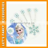 PGHD0311 Hot sale frozen elsa snowflake hair clip rhinestone hair pins set hair accessories for cosplay