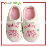 The latest ballet slippers pattern design for indoor cotton slipper,latest ladies slipper designs