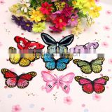 Custom wholesale colorful butterfly patches,Beautiful embroidery iron on patches for garment