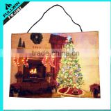 Light up led jacquard christmas decorations wall tapestry