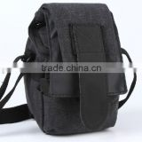 DSLR Camera Bag Micro Camera Shoulder Canvas Waterproof Black Bag Case for Canon Nikon SLR Camera Use