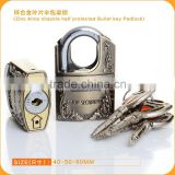 Durable Performance In Shackle Half Protected With Bullet Key Cheap Price Zinc Alloy Padlock
