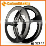CarbonBikeKits High quality Carbon clincher 3 spokes wheel 3SW-C
