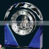 Handmade Blue Wall Clock in silver clock mechanism China new innovative product