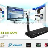 Quad core android mini TV dongle, dual band wif 2.4G/5G android 5.0 OS,support Miracast Airplay DLNA function