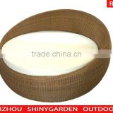new style round rattan outdoor lounge bed, round bed