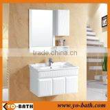 bathroom cabinet with towel rack and mirror