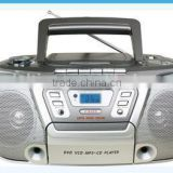 Large LCD Display High Quality CD Cassette Boombox with Radio mp3