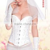 Glamour white embroidered lace wears Bridal gowns waist slimming corset SPR002