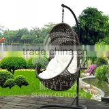 Outdoor Furniture Poly Rattan Hanging Chair Garden Swing Chair Factory Price