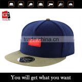 Flat Brim Blank Custom 5 Panel Leather Patch adjust snapback hats