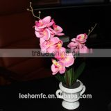 Factory direct Wholesale pink fabric orchid flowers artificial silk orchids