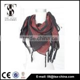 Hot selling tassels red square cotton autumn lady pareo