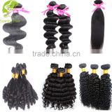 Wholesale cheap hair with hair extension packaging loose curl virgin brazilian weave hair