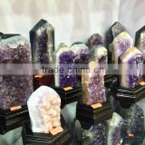 Natural Rock Amethyst Geode Cluster Wand Point Crystal Pillars