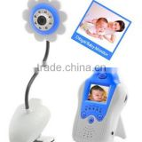Blue 2.4Ghz 4CH Wireless Camera Video Baby Monitor Voice Control Baby Care Kit