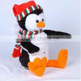 X'mas Snowman with body swing & hands and head moving, electronic & movement plush toys