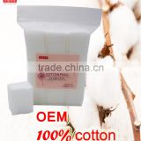 Alibaba China cosmetic cotton pads manufacturers,100% cotton sanitary pads makeup remover cotton pads