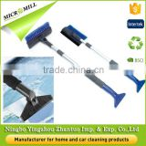 Flexible ice breaking tool, telescope snow brushes for cars, ice scraper brush with aluminium pole