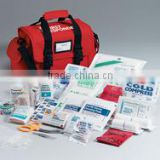 First Responder kit- 158 piece- semi-rigid red bag w/ handle- shoulder strap- side pockets- removable divider