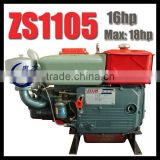 18hp engine, direct injection diesel engine, ZS1105 1cylinder diesel engine, Water Cooled