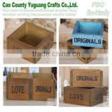wooden box with letter Love,antique wood box,YuGuang wood craft