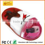 Customized design optical wired or wireless liquid floating aqua mouse for gifts