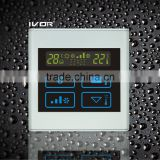 Good Quality IVOR 220V Central Air-Conditioner Thermostat Digital AC Thermostat Switch SK-AC2300B Light Silver PC Frame