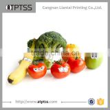 Novelty creative characters fashion stick on food fruits safety edible disguises adhesive sticker for children