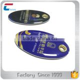 ISO14443A /ISO15693 /13.56MHZ Customized Design RFID NFC Key Tag Key Fob with Metal Edge