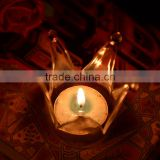 Wholesale New Design and High Quality for Home and Wedding Decorative Crown Glass Candle Holder