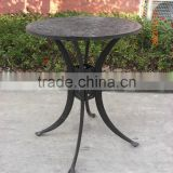Cast Aluminum Outdoor Mosaic Bistro Set Table