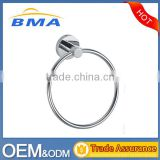 Bathroom Accessory Wall Mounted Round Stainless Steel Towel Ring