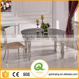 Home Furniture Round Extendable Glass Dining Table TH389