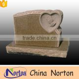 Cheapest brown granite headstone french style single tombstone for sell NTGT-070L