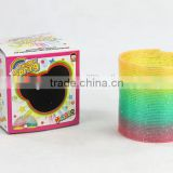 high quality classic magic rainbow spring /plastic rainbow circle