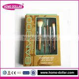 professional makeup brush set/ cosmetic foundation brushes/ goat hair makeup brushes with bamboo handle