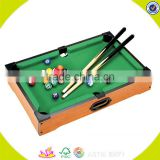 2017 Wholesale cheap kids mini wooden pool table W11A027