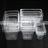 Full Arrange of Hotel Pan Size Clear Plastic PC Food GN Pans
