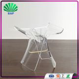 Transparent Crystal Living Room Stool Acrylic Piano Stool Luxury Glass 4 Legs Ottomans