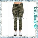 Women Fashion Skinny Camo Jogger Cargo Trousers