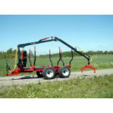 ZM12006 Log trailer with crane