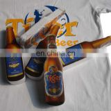 Bottle shape compressed t-shirt,promotional compressed shirt