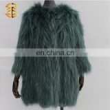 China Factory Good Service Professional Knitted 100% Raccoon Fur Coat