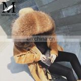 New Arrival Women Monochromatic Jackets and Winter Coats With Corduroy Fabric